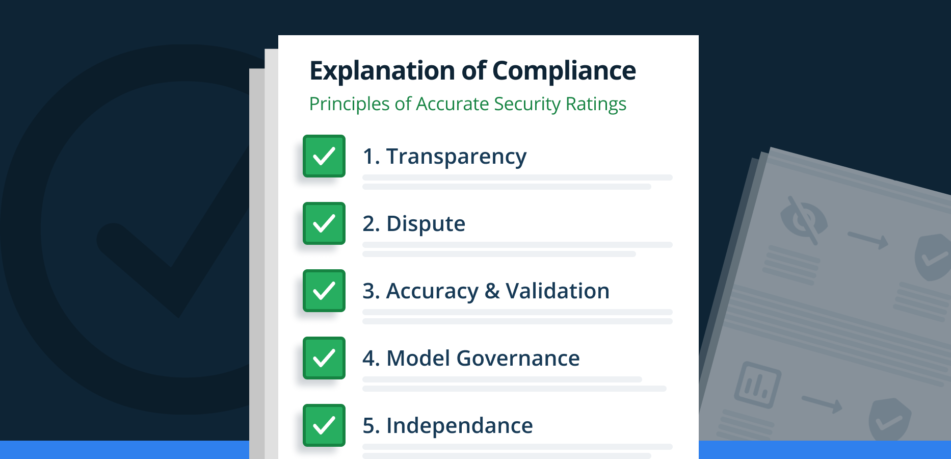 RiskRecon Explanation of Compliance with U.S. Chamber of Commerce Principles for Fair and Accurate Security Ratings