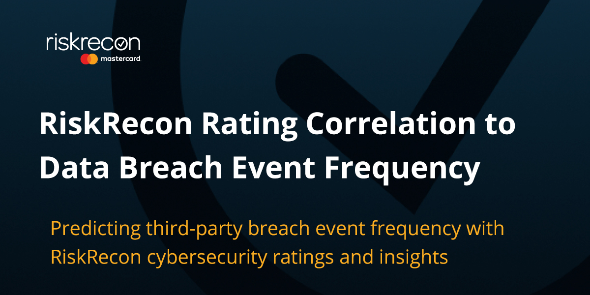 RiskRecon Rating Correlation to Data Breach Event Frequency